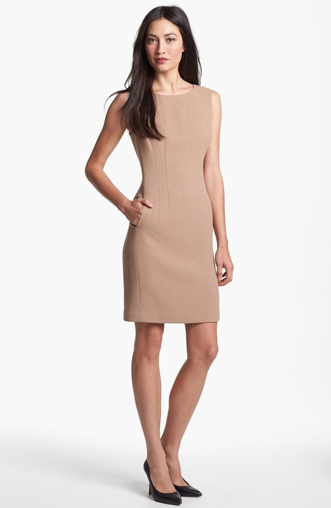 Main Image - Lafayette 148 New York 'Evelyn - Riche Crepe' Sheath Dress