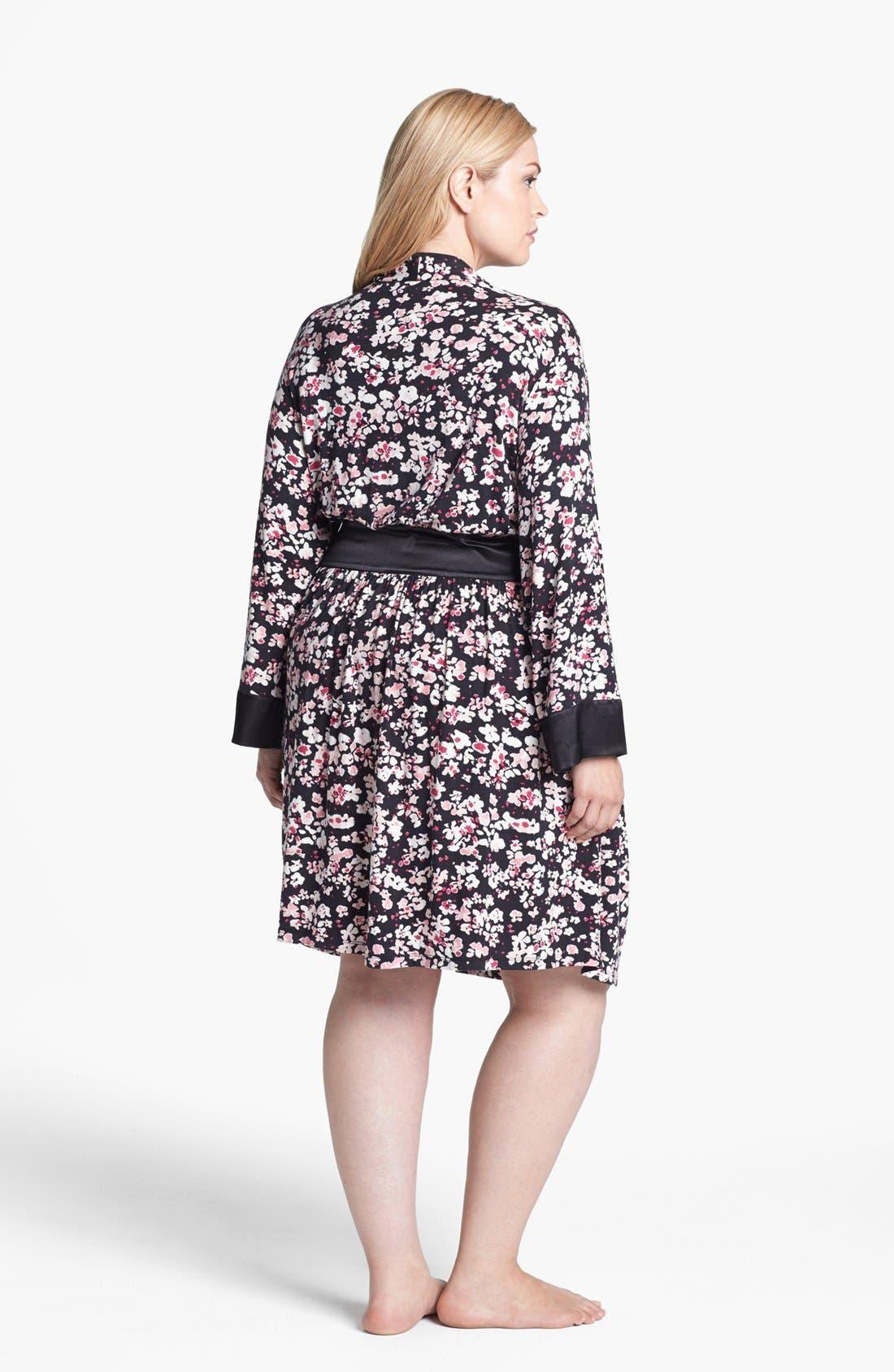 Alternate Image 2  - Midnight by Carole Hochman 'Dream Weaver' Robe (Plus Size)