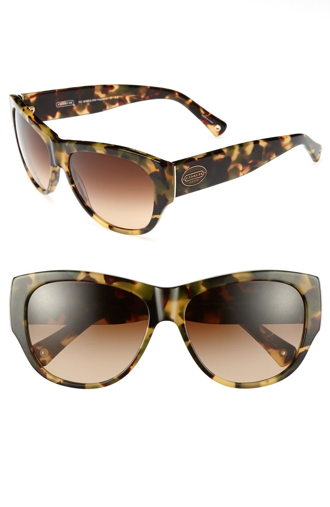 Alternate Image 1 Selected - COACH 'Hayden' 58mm Sunglasses