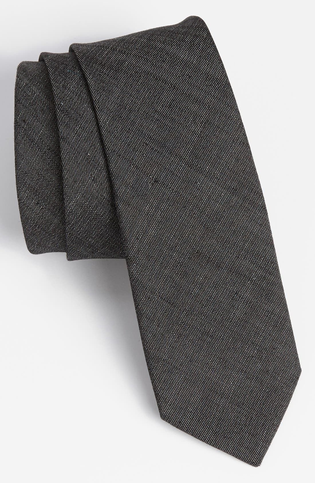 Alternate Image 1 Selected - Topman Slim Denim Tie