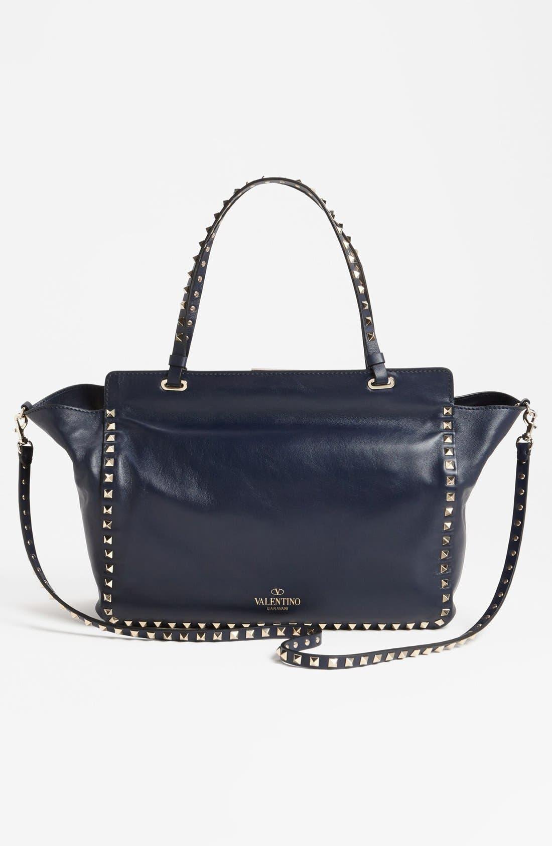 Alternate Image 4  - Valentino 'Rockstud - Medium' Double Handle Leather Tote