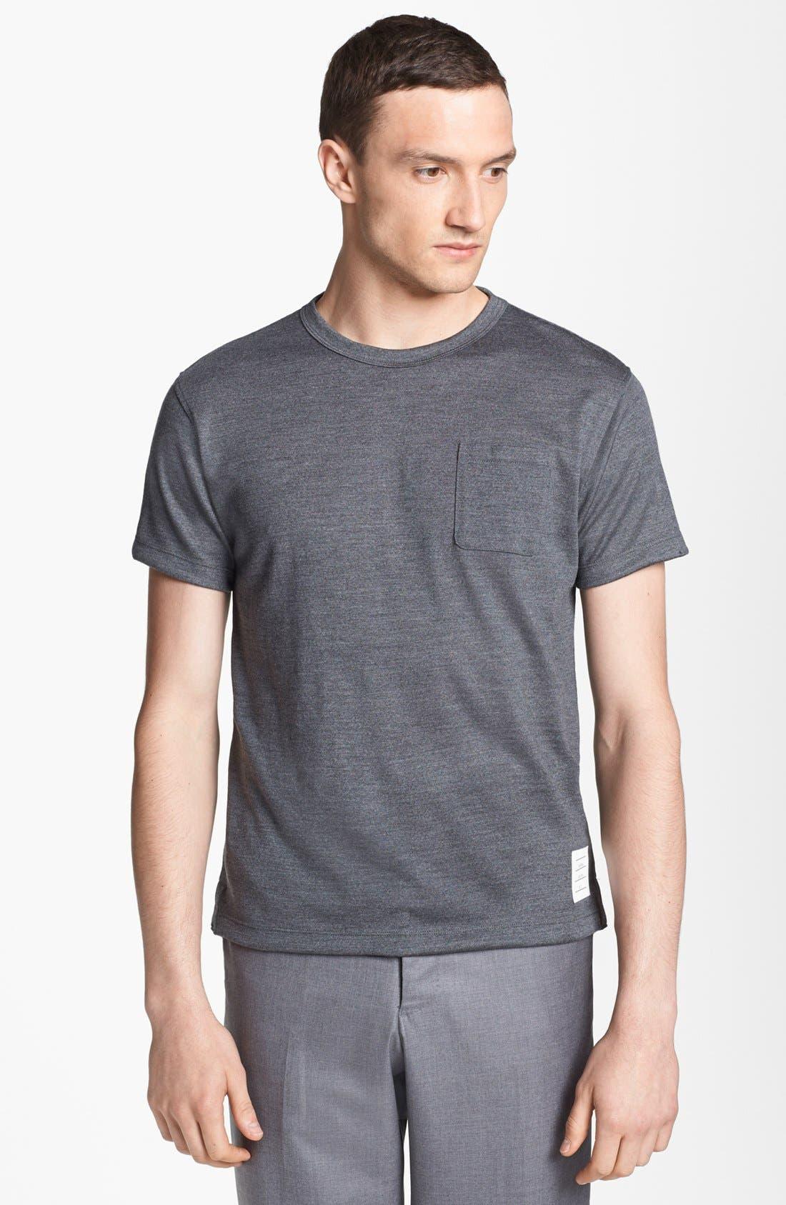 Alternate Image 1 Selected - Thom Browne Merino Wool Pocket T-Shirt