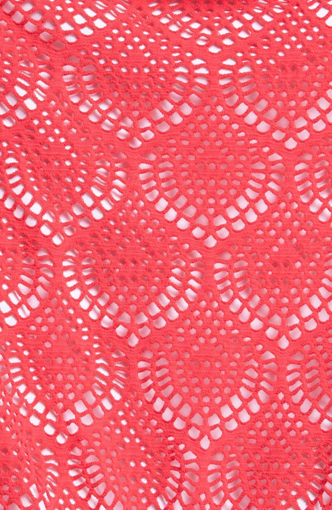 Alternate Image 5  - La Blanca Crochet Tankini Top
