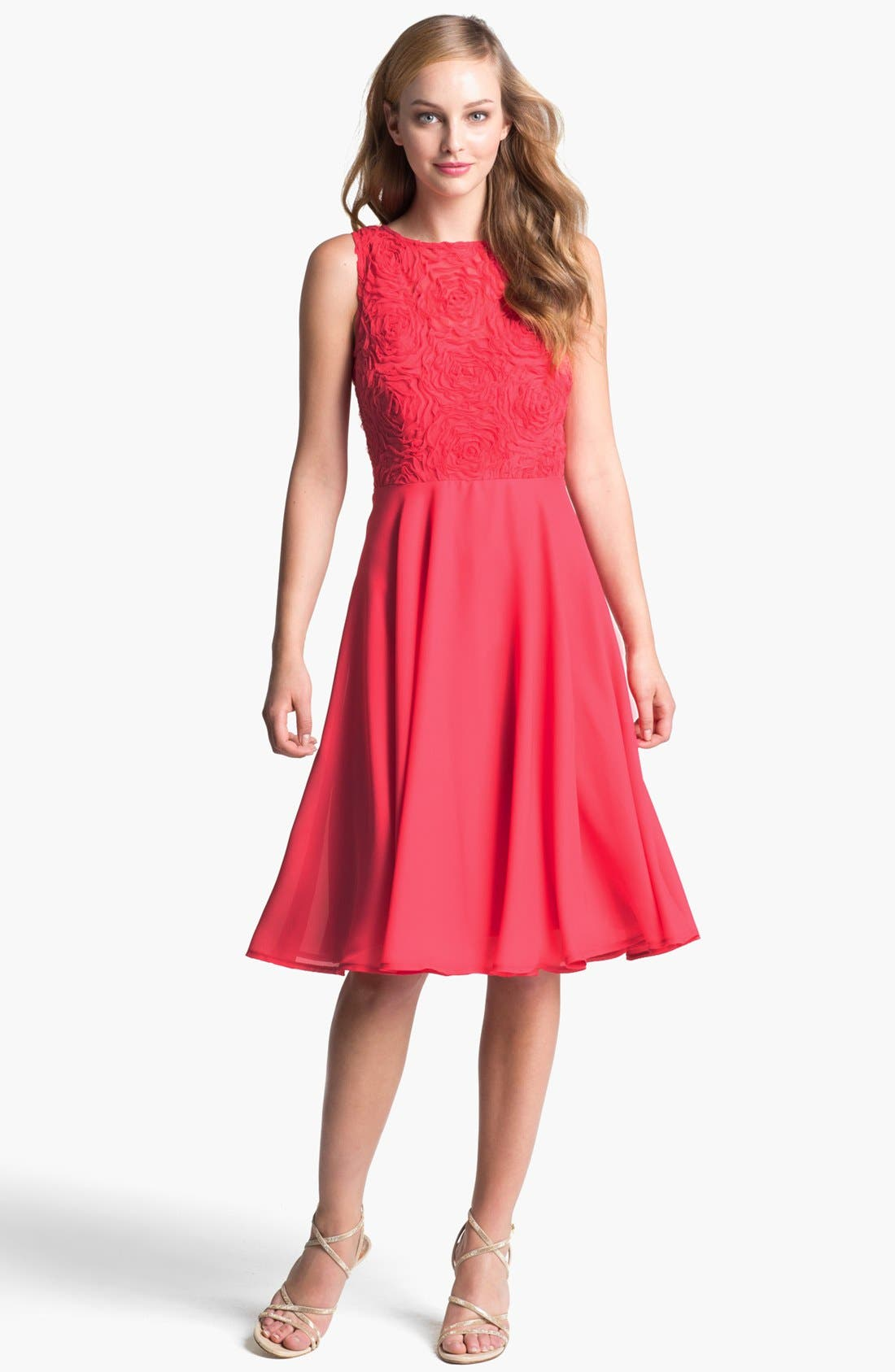 Alternate Image 1 Selected - Isaac Mizrahi New York Soutache Fit & Flare Dress