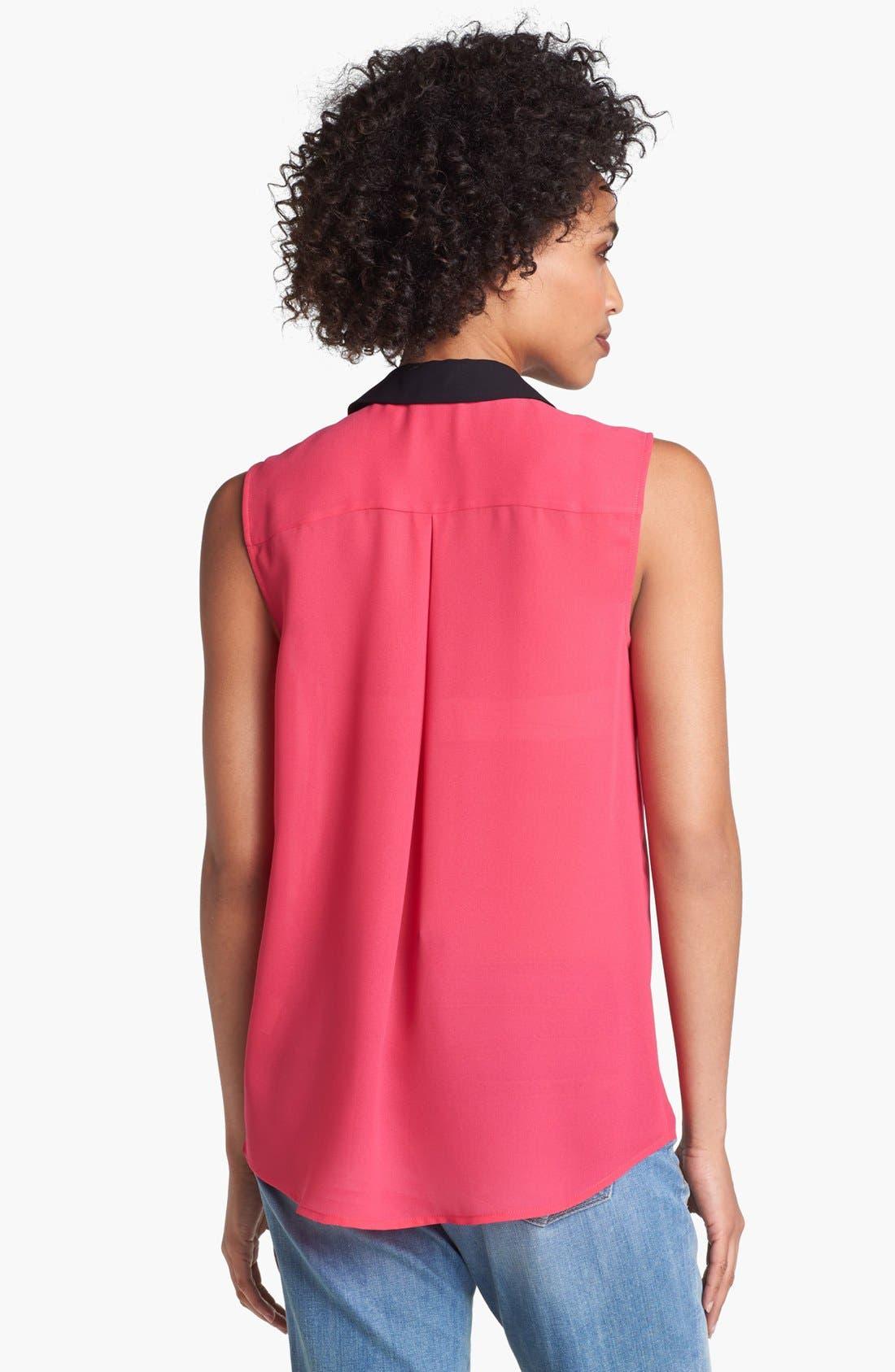 Alternate Image 2  - Halogen® Colorblock Sleeveless Top (Regular & Petite)