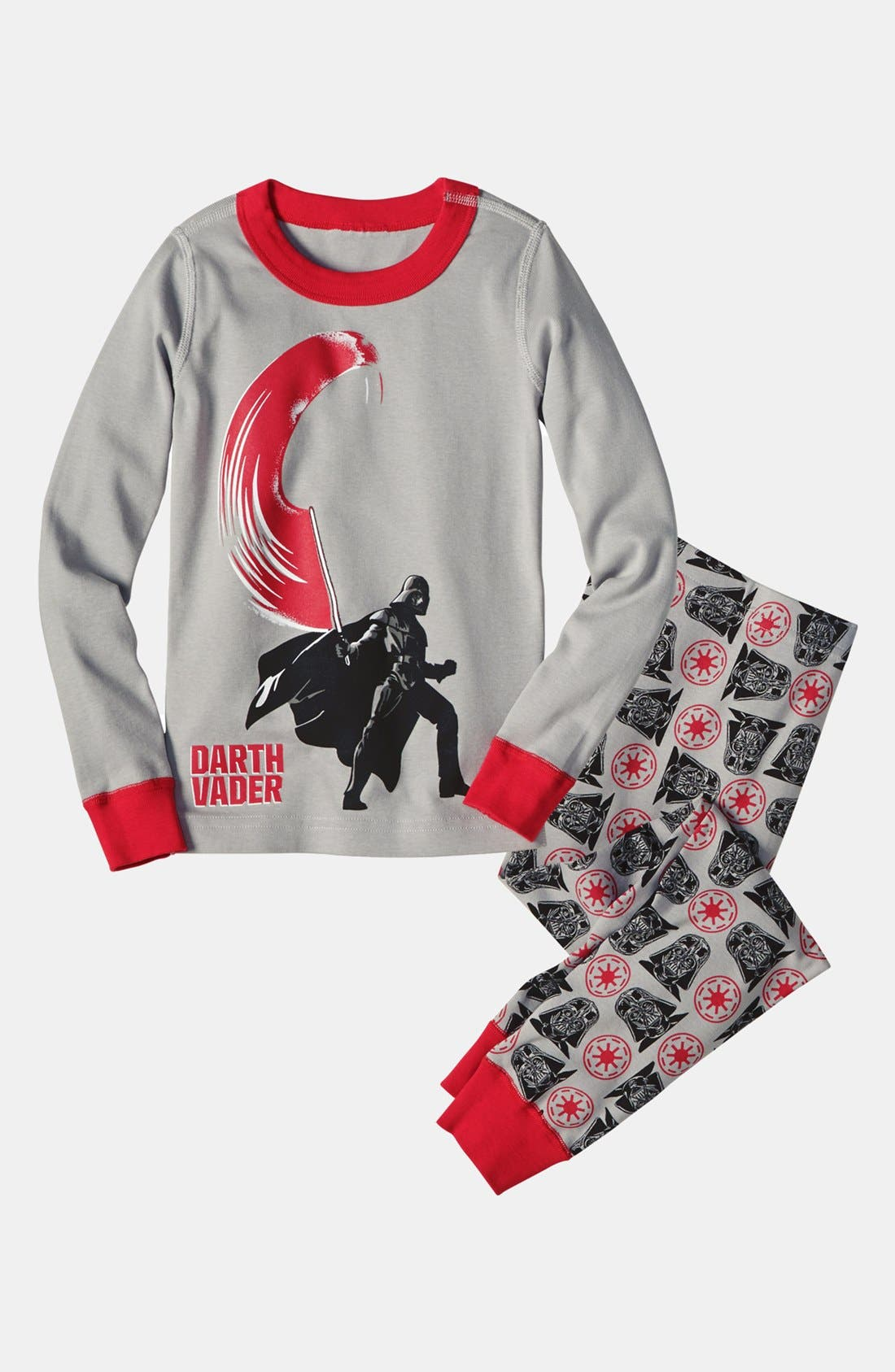 Alternate Image 1 Selected - Hanna Andersson Two-Piece Fitted Pajamas (Little Boys & Big Boys)