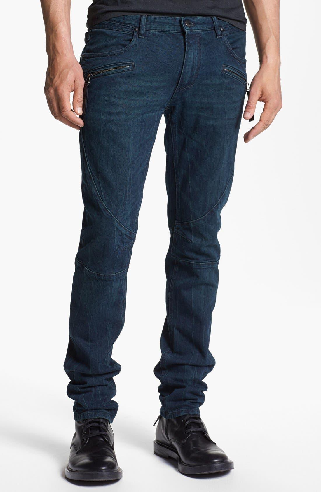 Main Image - Just Cavalli Slim Fit Moto Jeans