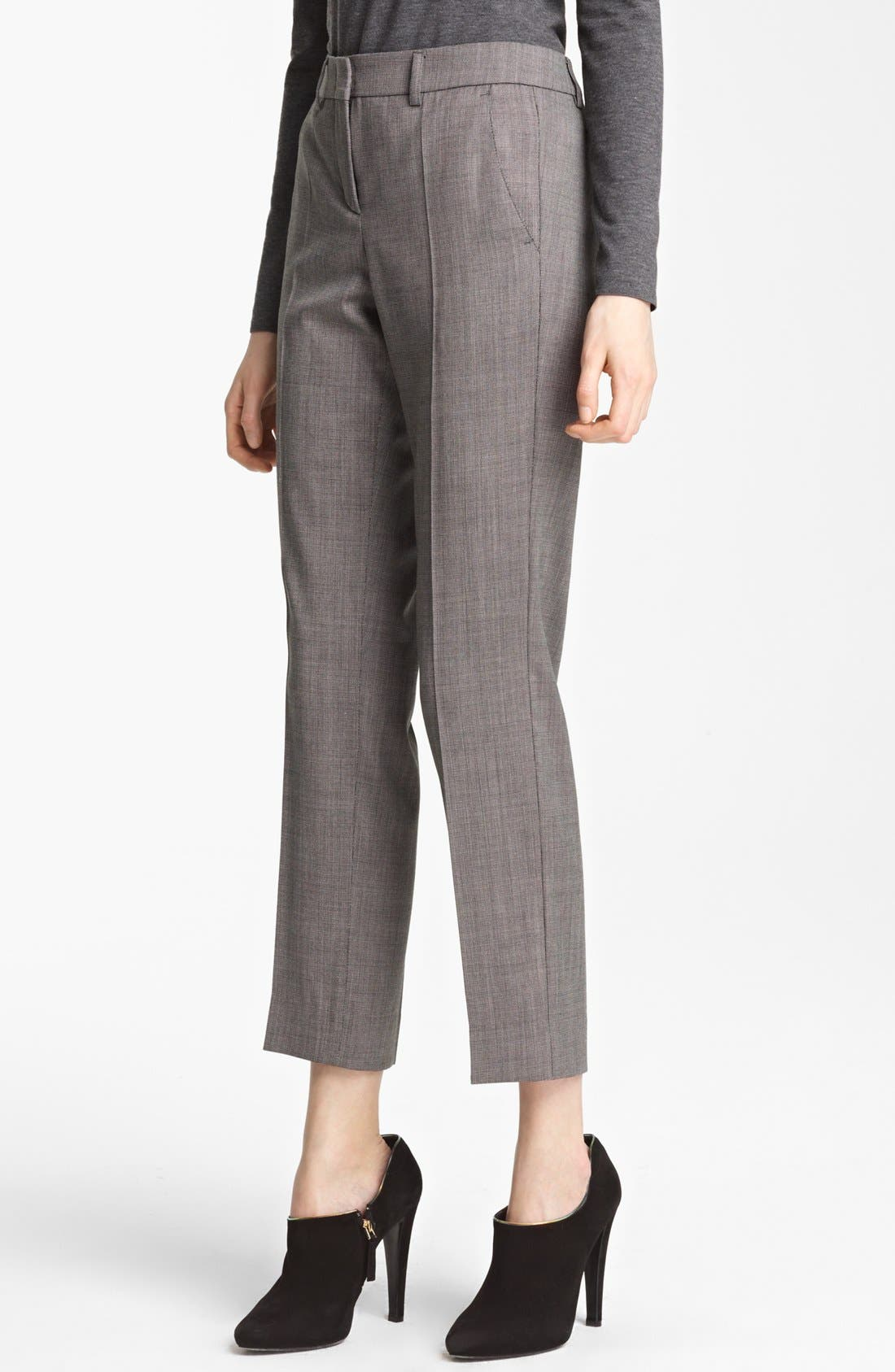 Main Image - Armani Collezioni Narrow Micro Herringbone Pants