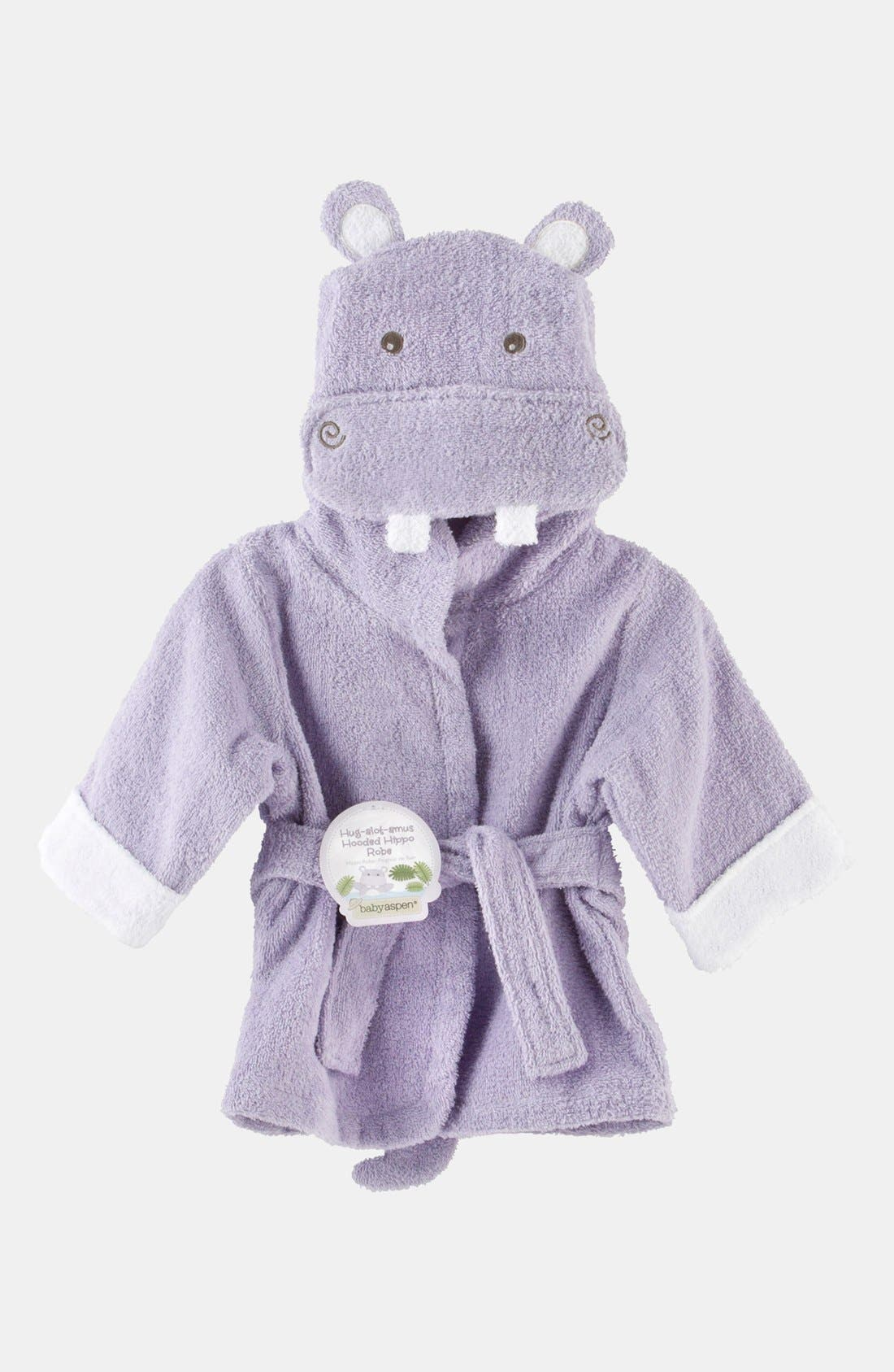 Main Image - Baby Aspen 'Hug a Lot Amus' Hooded Robe (Baby)