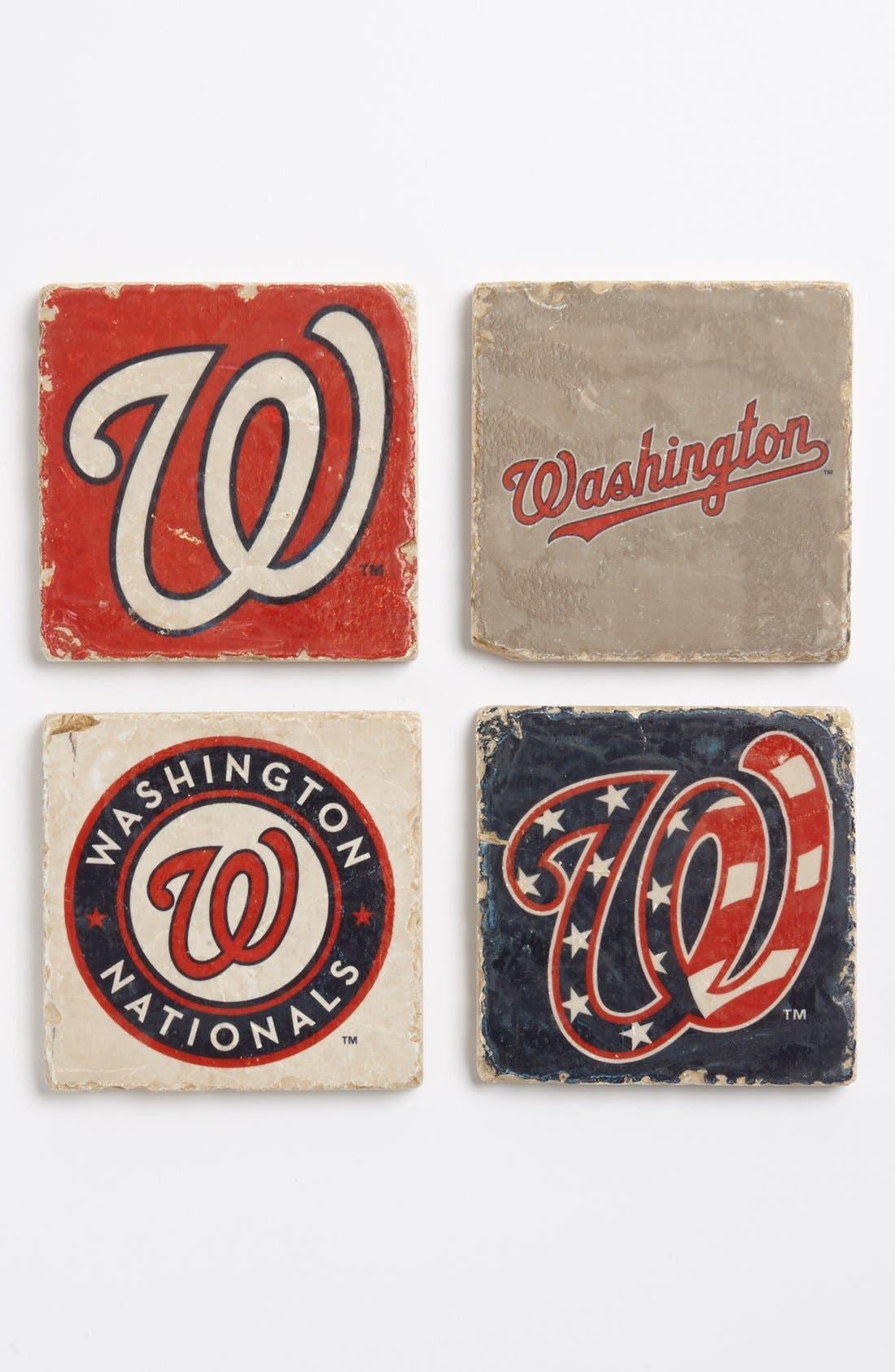 Alternate Image 1 Selected - 'Washington Nationals' Marble Coasters (Set of 4)