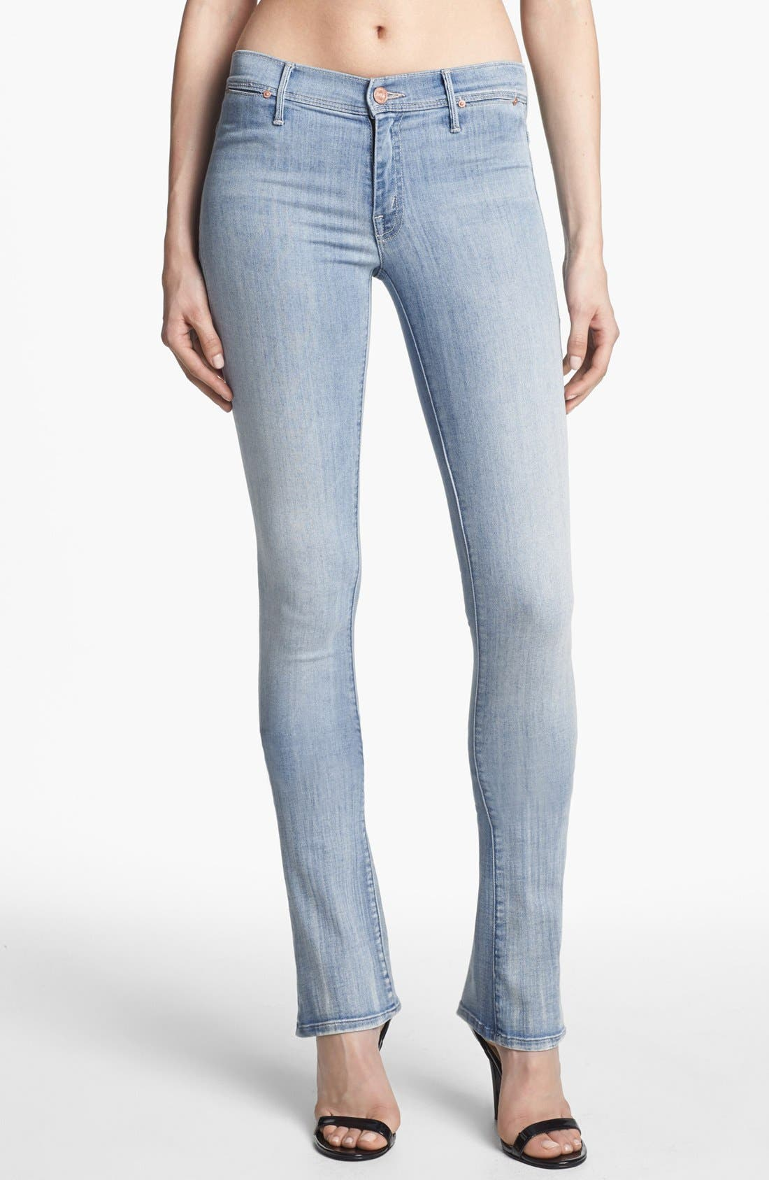Main Image - MOTHER 'The Daydreamer' Skinny Flare Leg Jeans (The Welcome)