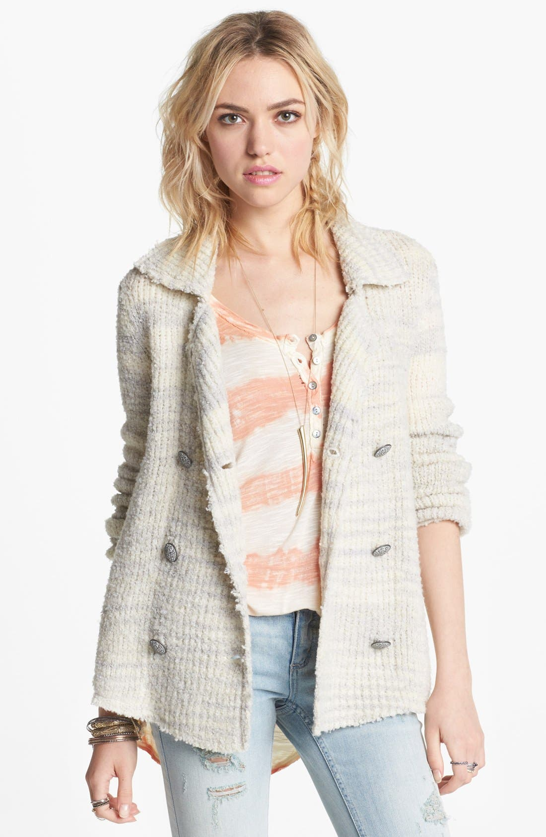 Main Image - Free People Double Breasted Wool Jacket