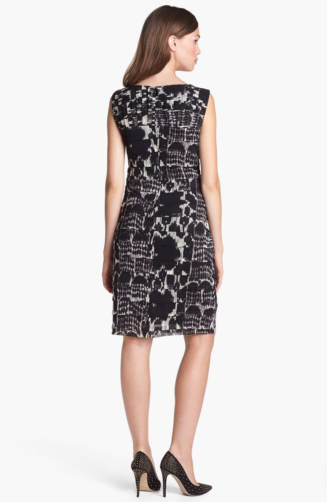 Alternate Image 2  - Adrianna Papell Asymmetrical Pleat Print Dress