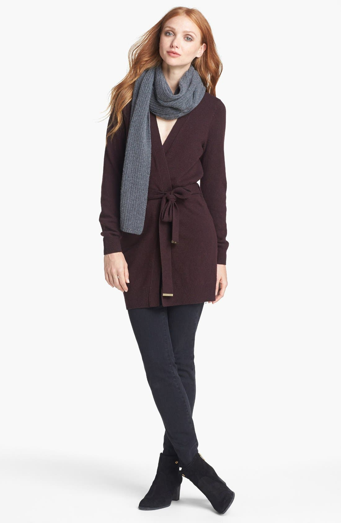 Alternate Image 2  - Tory Burch 'Gwen' Cardigan with Scarf