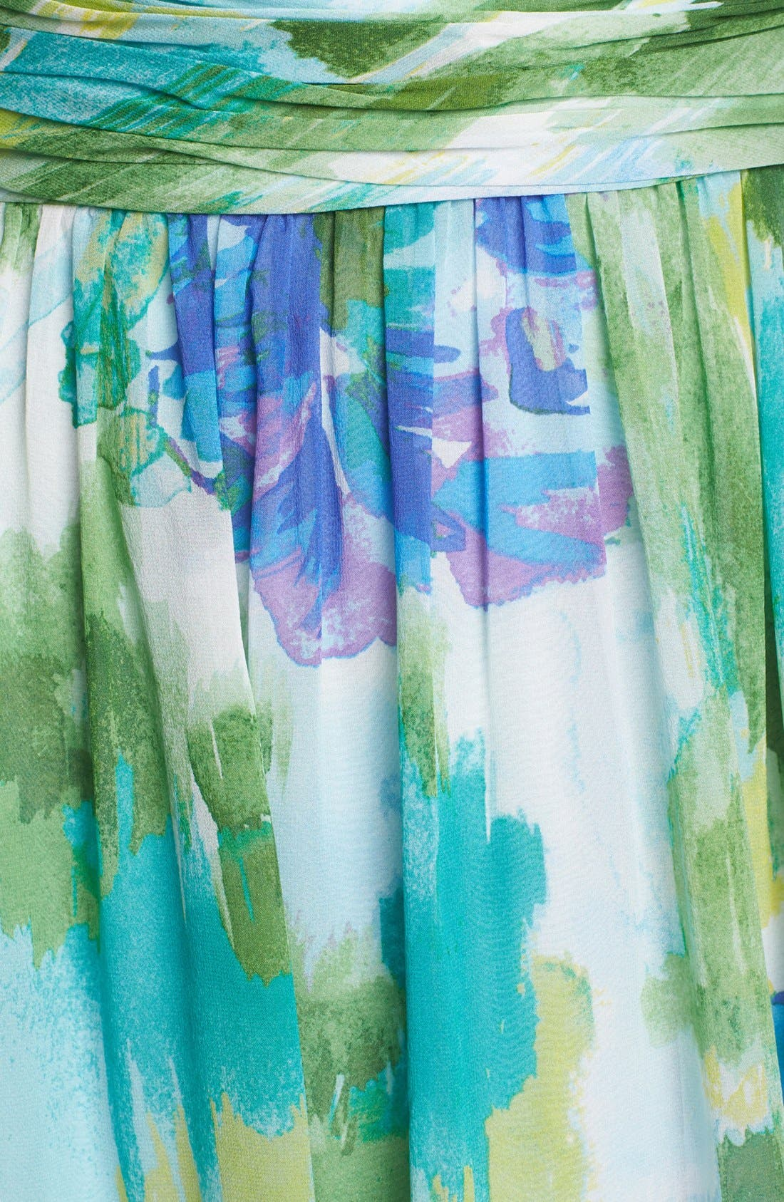 Alternate Image 4  - Donna Morgan 'Rhea' One-Shoulder Print Dress (Online Only)