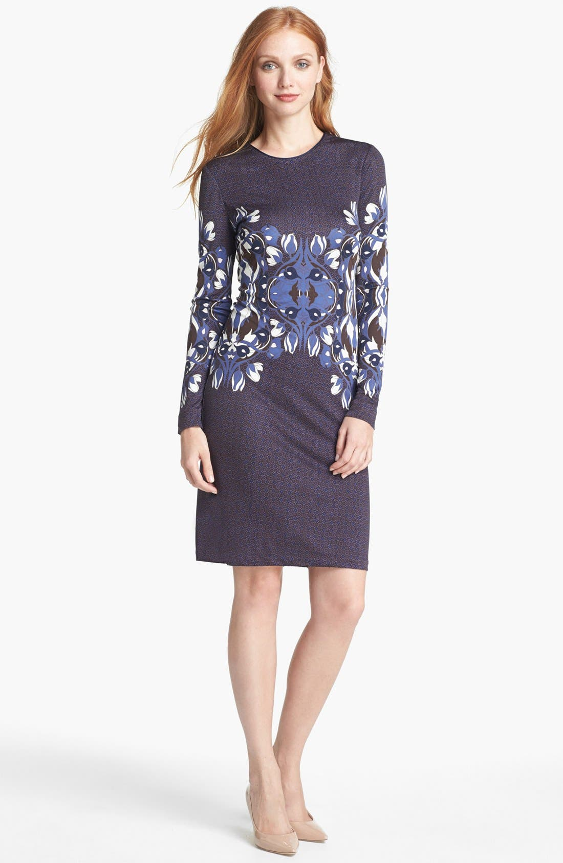 Main Image - Tory Burch 'Flavia' Knit Silk Dress