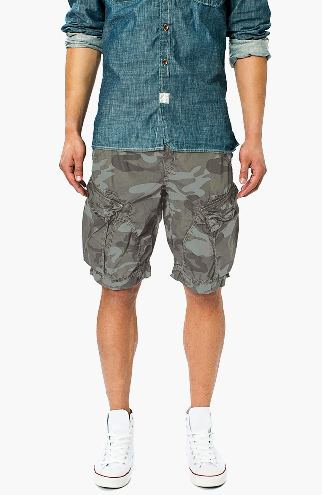 Main Image - Union 'New Duke' Camo Cargo Shorts
