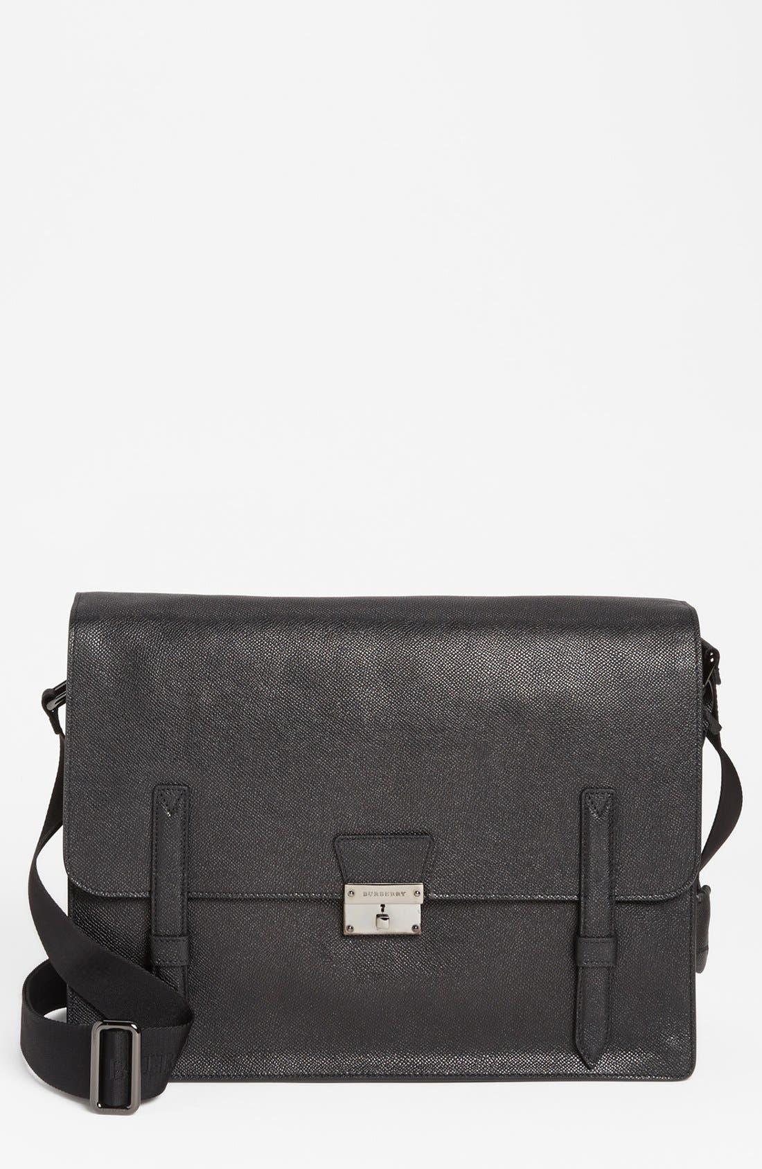 Alternate Image 1 Selected - Burberry 'Rivendale' Leather Messenger Bag