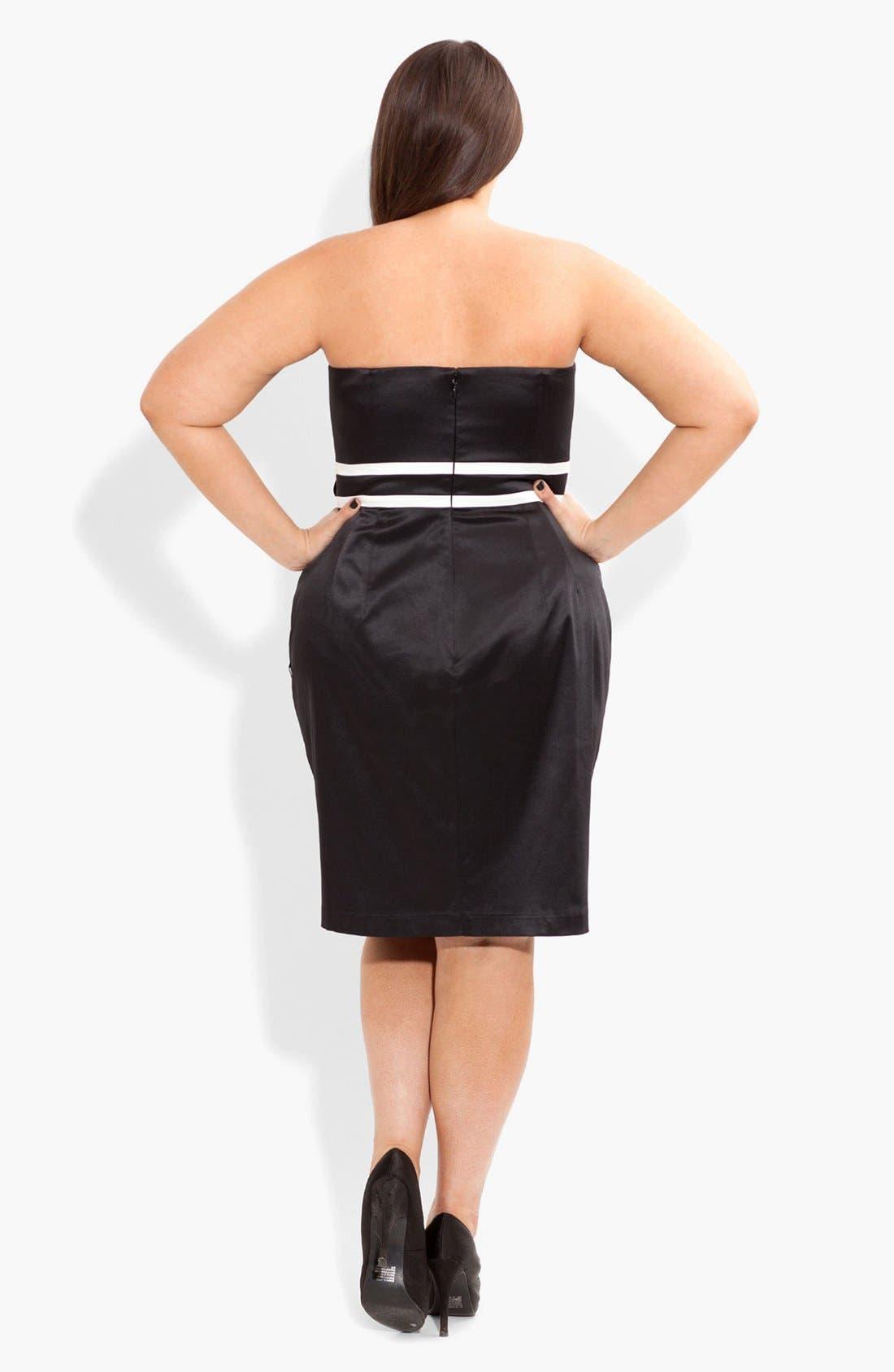 Alternate Image 2  - City Chic 'Melissa' Embellished Contrast Trim Sheath Dress (Plus Size)