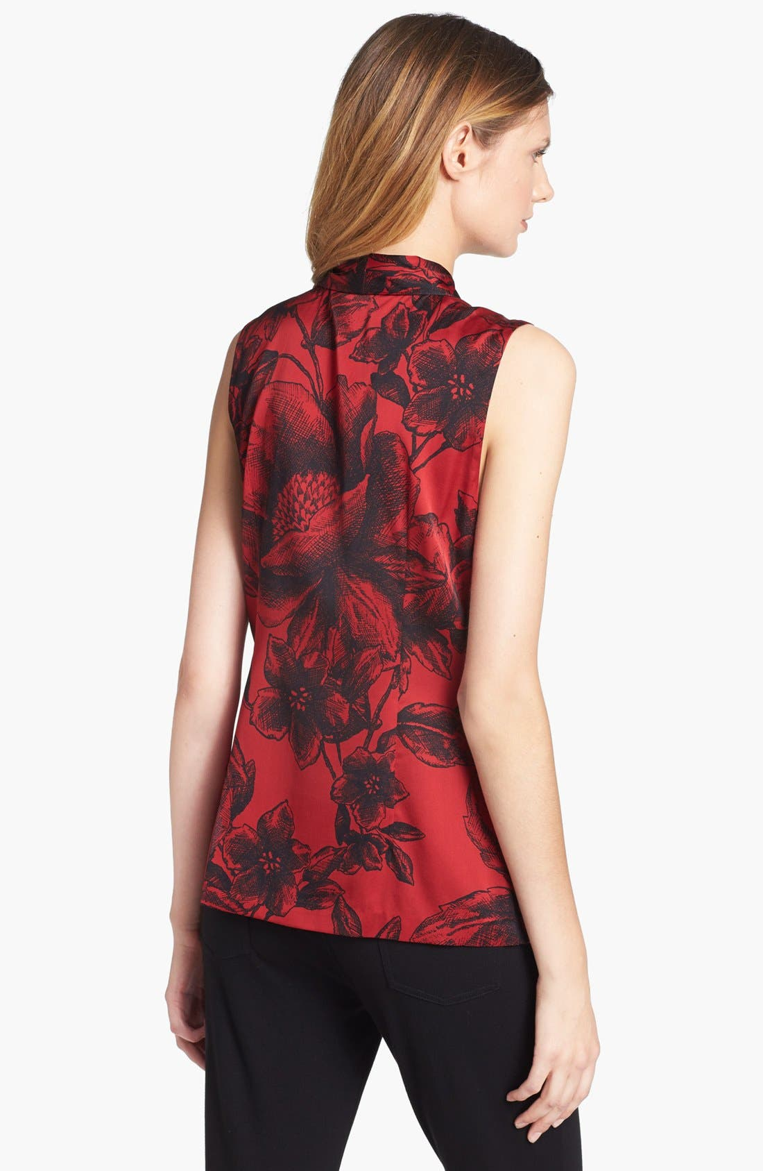 Alternate Image 2  - Classiques Entier® Ruffled Stretch Silk Blouse