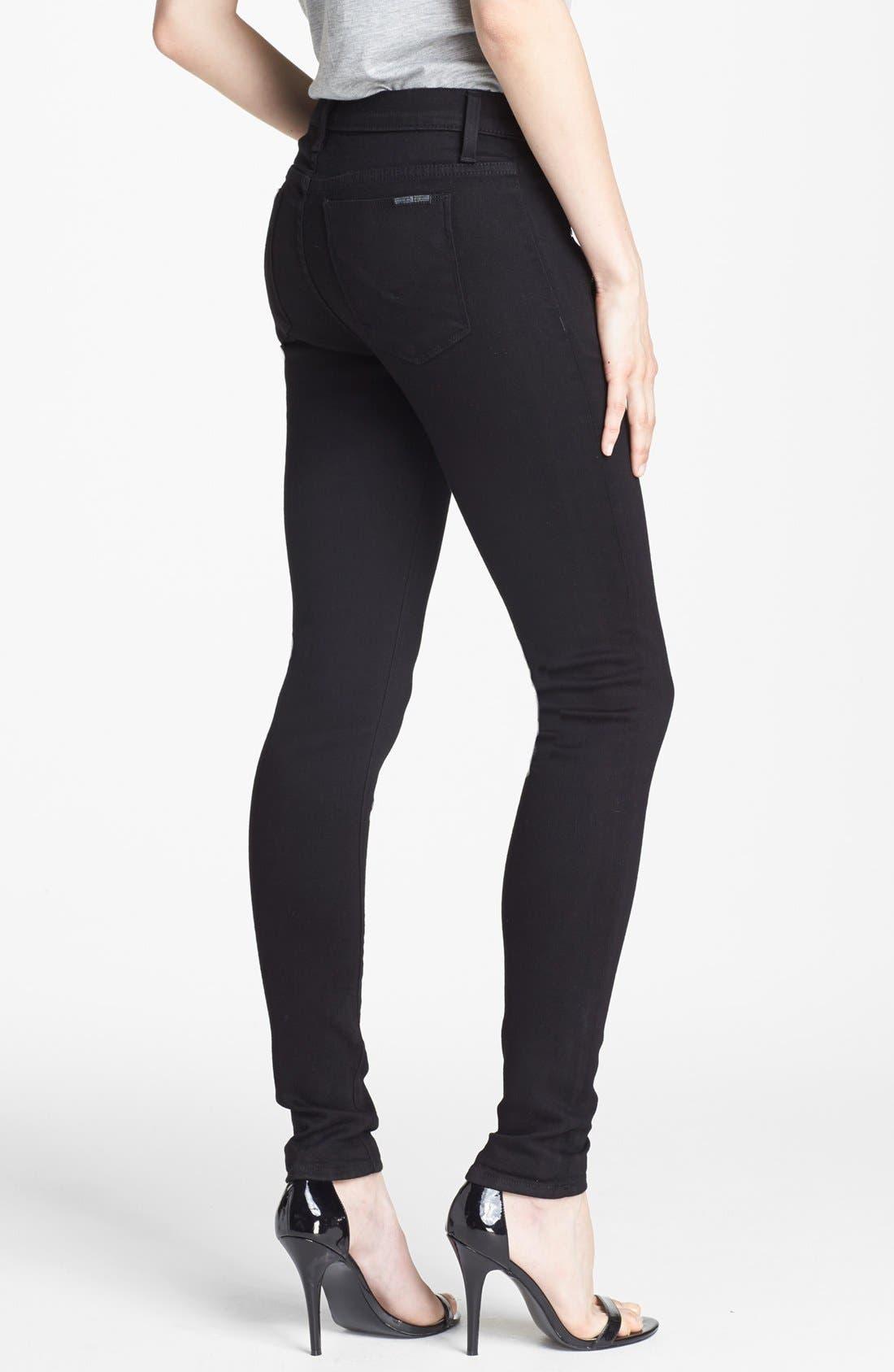 Alternate Image 2  - Hudson Jeans 'Biker' Skinny Jeans (Black)