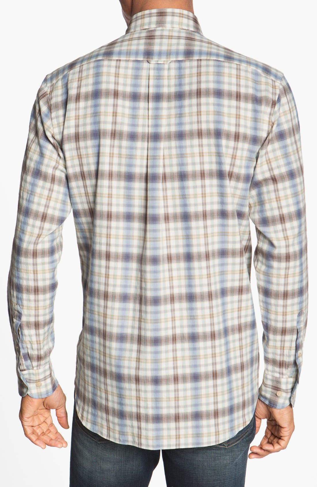 Alternate Image 2  - Façonnable Club Fit Plaid Sport Shirt