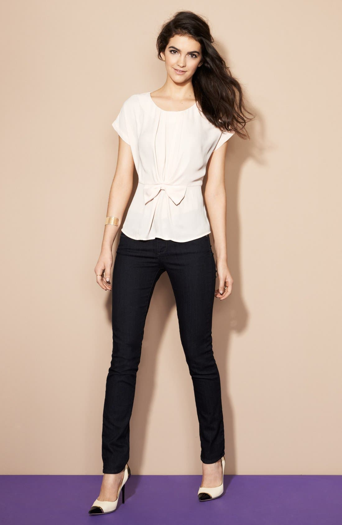 Alternate Image 5  - Paige Denim 'Skyline 12' Skinny Stretch Jeans (Twilight)