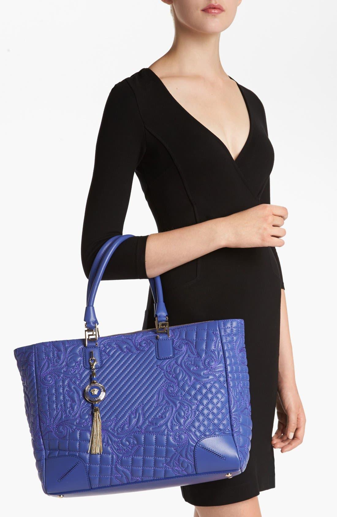 Alternate Image 2  - Versace 'Vanitas' Embroidered Leather Tote