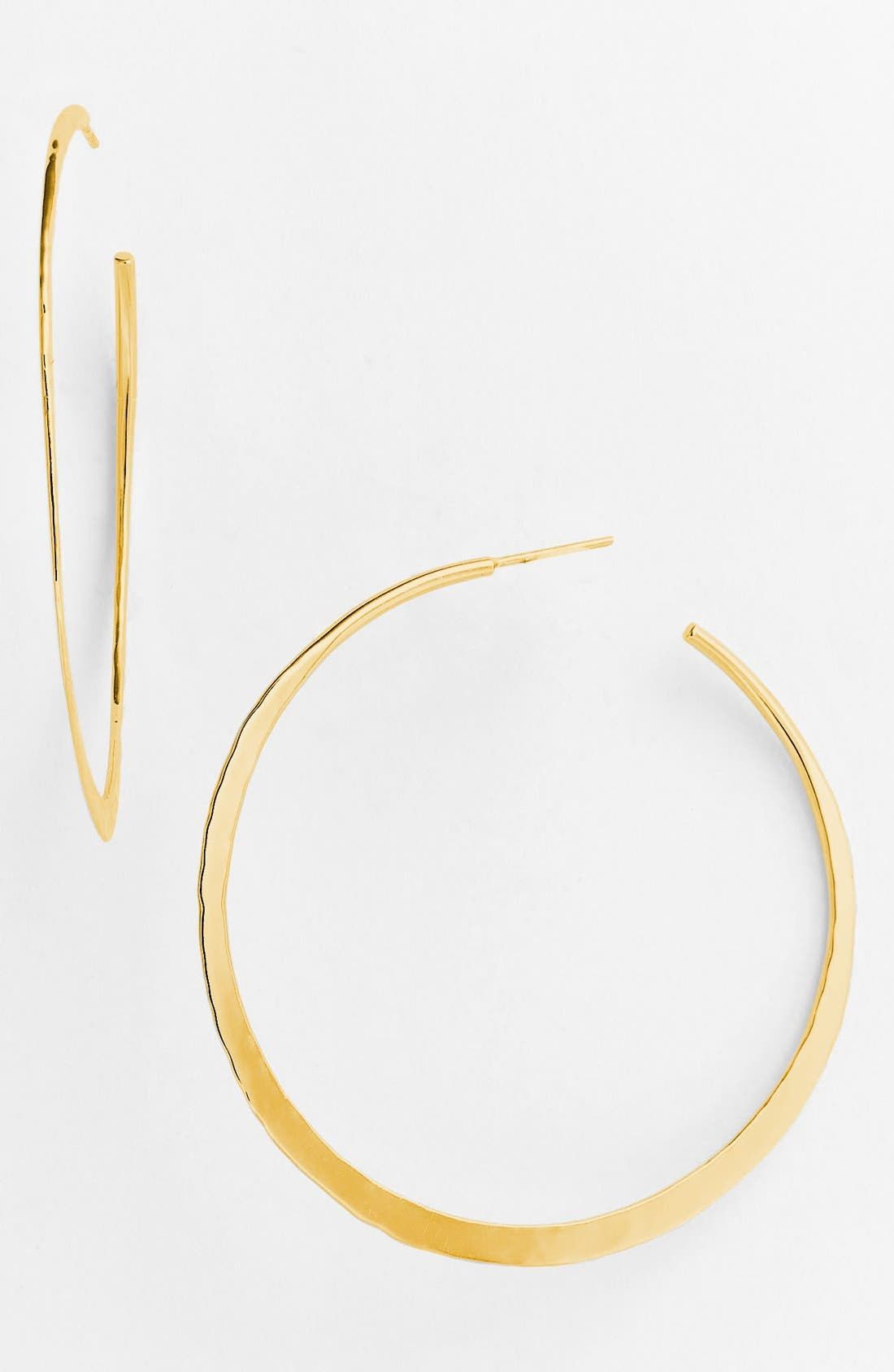 Main Image - Argento Vivo Hammered Crescent Large Hoop Earrings