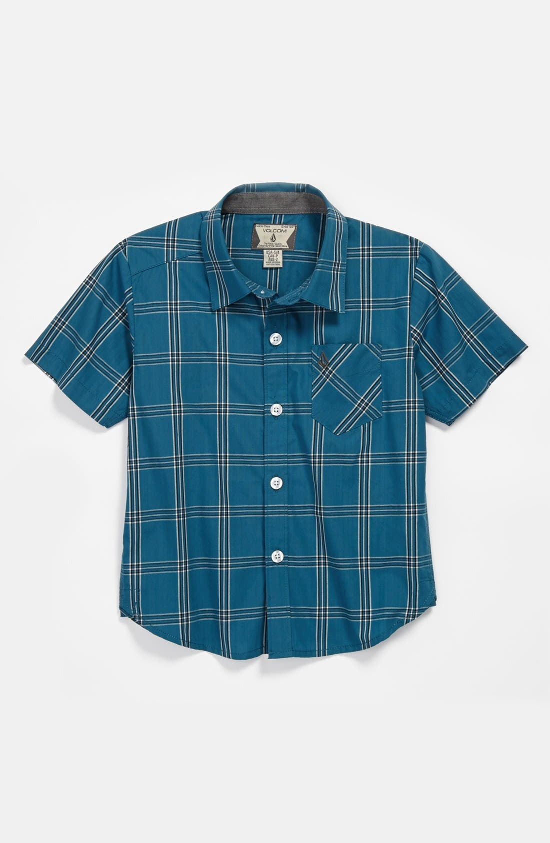Main Image - Volcom 'Why Factor' Short Sleeve Woven Shirt (Little Boys)