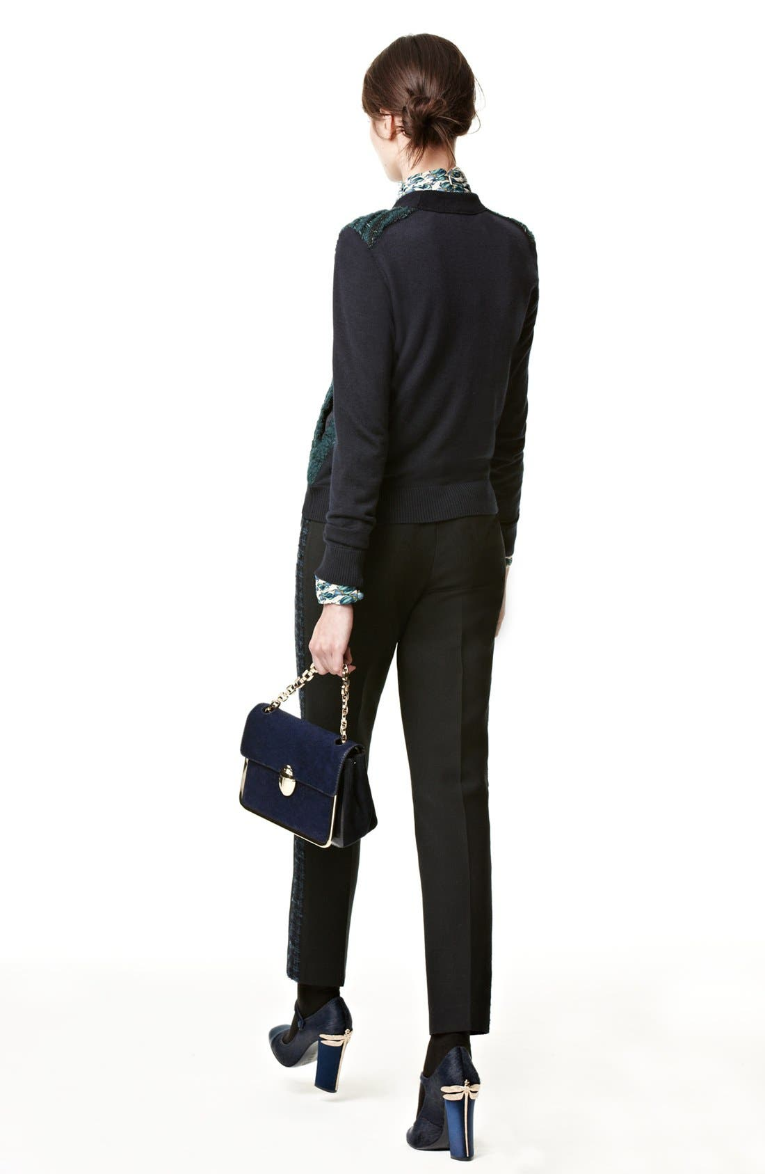 Alternate Image 2  - Tory Burch Cardigan, Top, Tuxedo Pants & Pump