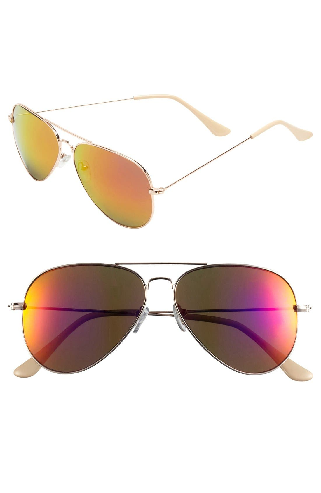 Alternate Image 1 Selected - BP. 'Flash' Aviator Sunglasses (Juniors)