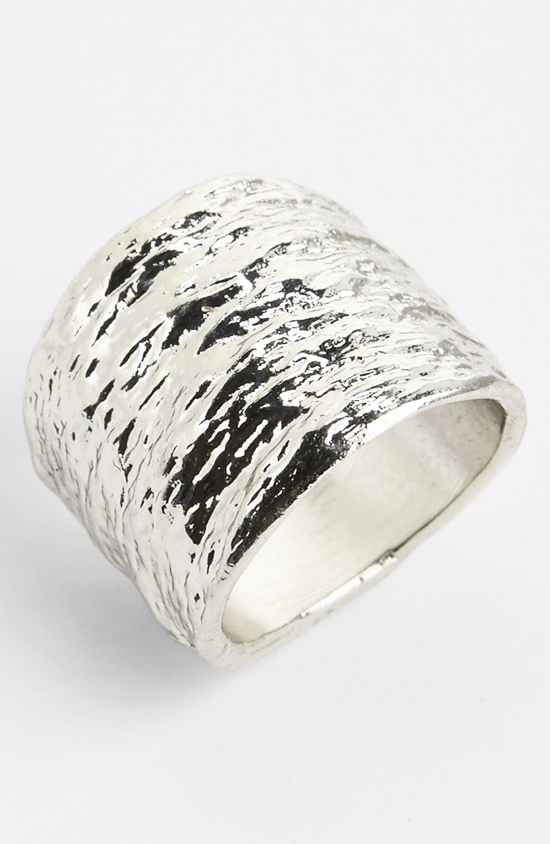 Alternate Image 1 Selected - Topshop Textured Ring