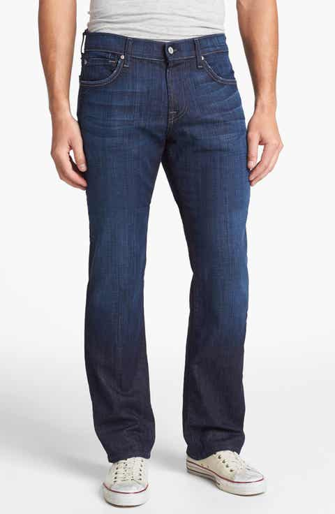 7 For All Mankind® 'Austyn' Relaxed Straight Leg Jeans (Los Angeles Dark)