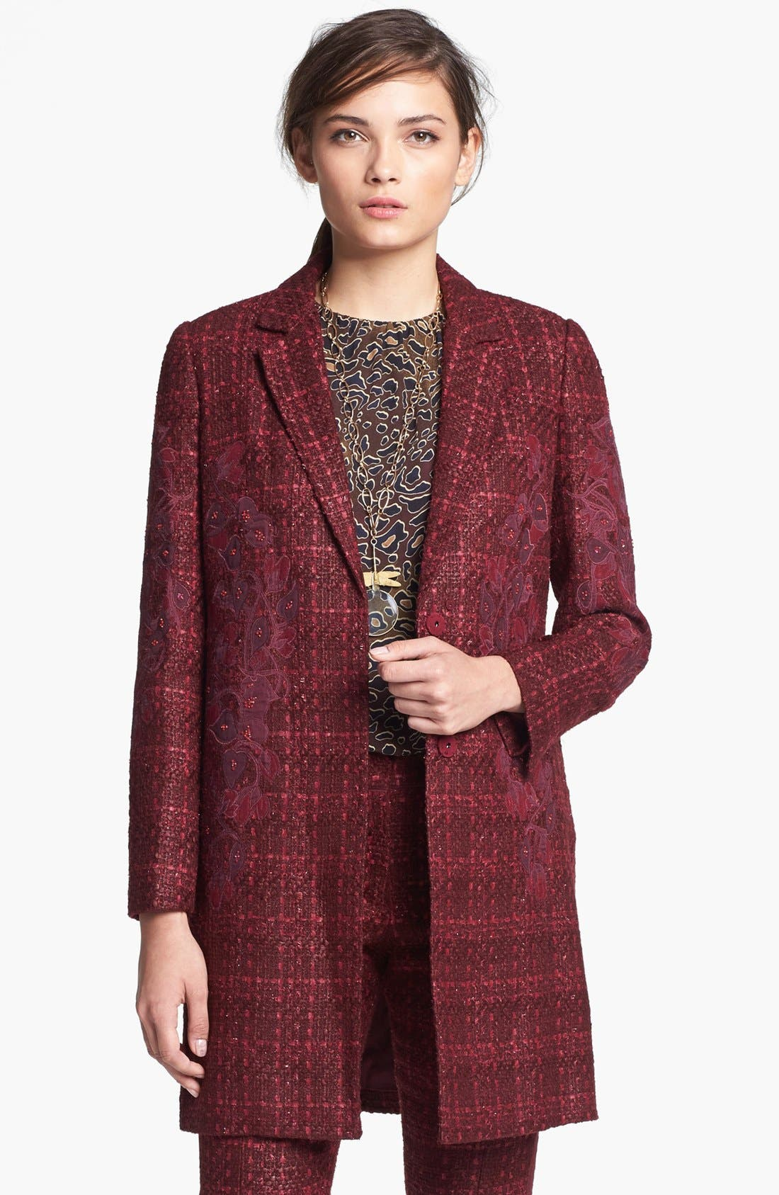 Main Image - Tory Burch 'Patsy' Tweed Coat