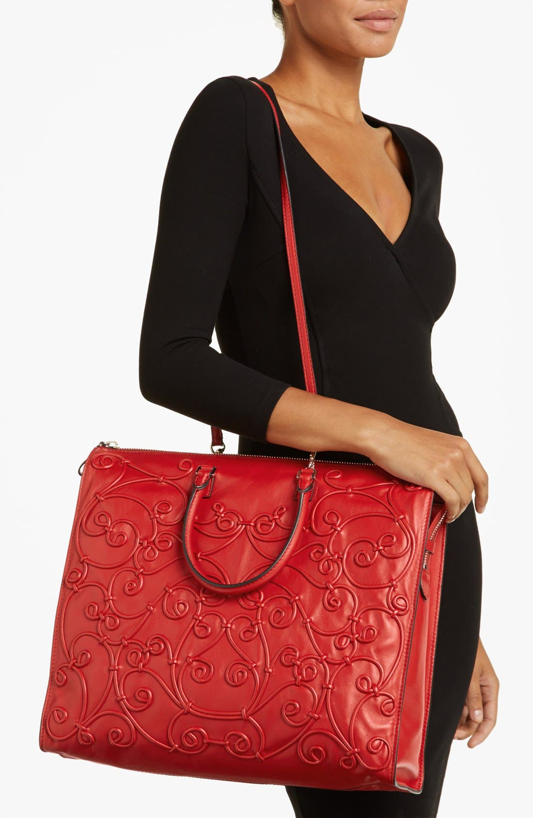 Alternate Image 2  - Valentino 'Intrigate' Double Handle Leather Tote