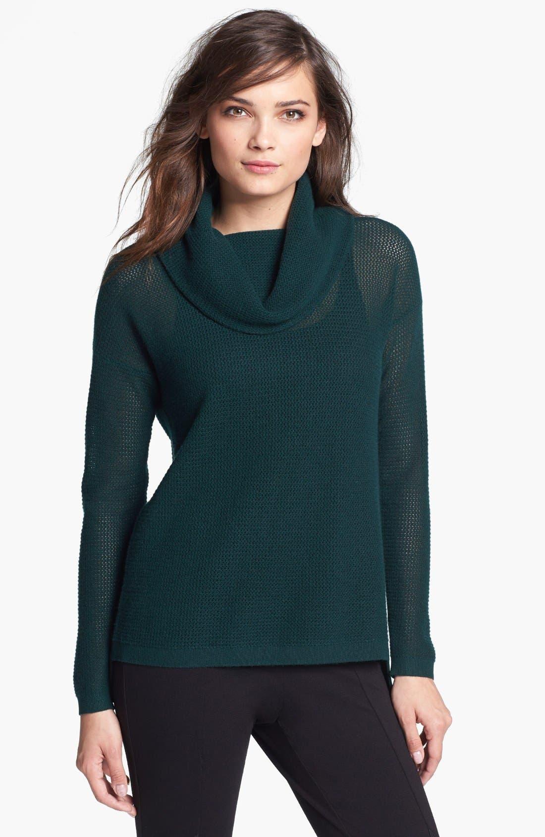 Main Image - Elie Tahari 'Nancy' Faux Wrap Back Cashmere Sweater