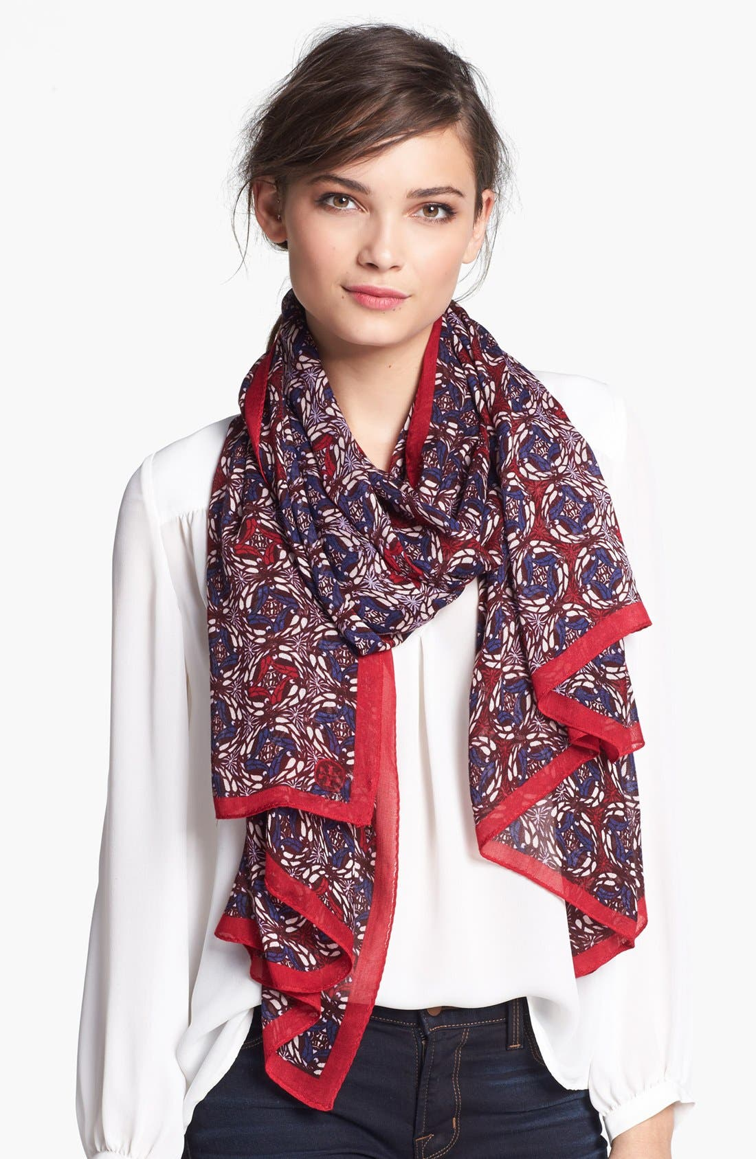 Alternate Image 1 Selected - Tory Burch 'Spiral Circles' Scarf