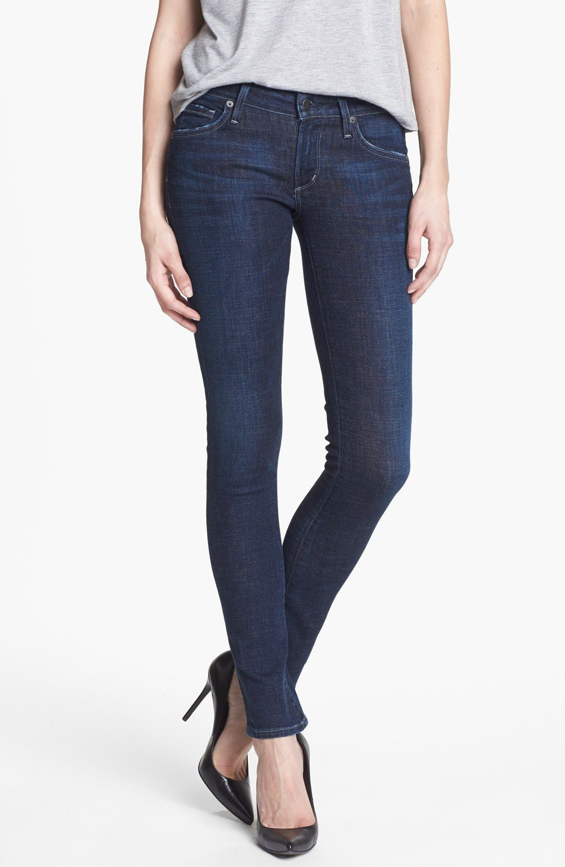 Alternate Image 1  - Citizens of Humanity 'Racer' Low Rise Skinny Jeans (Solstice)