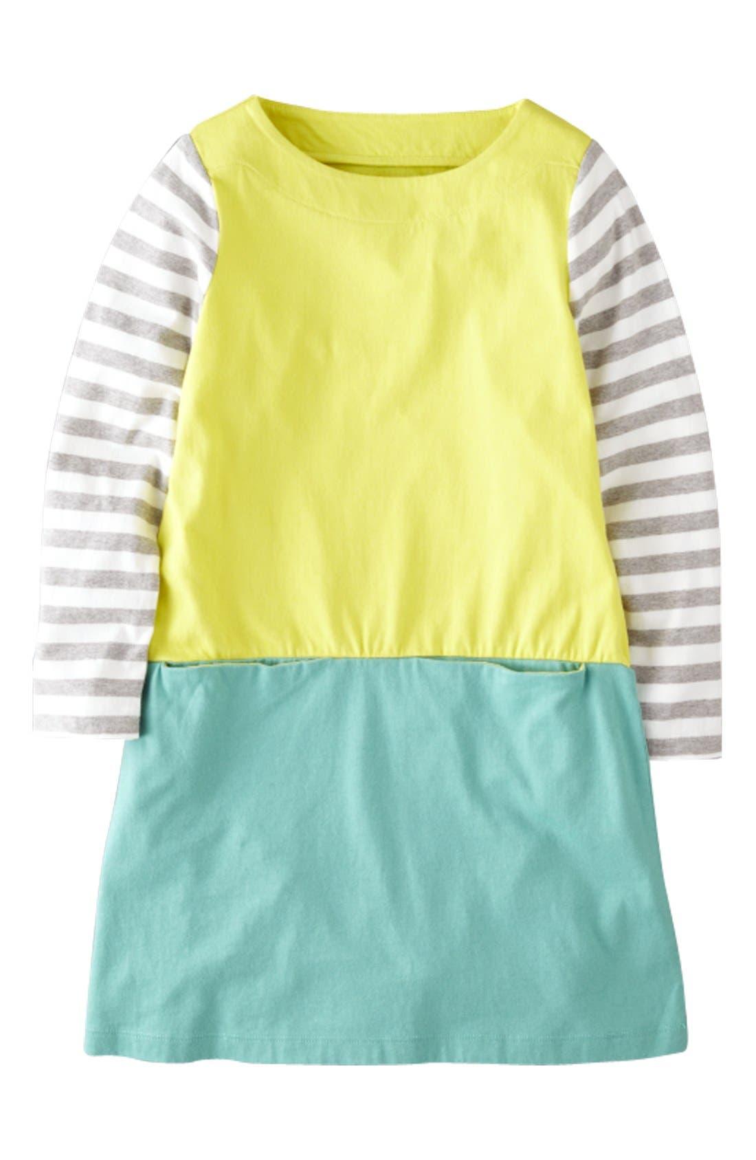 Main Image - Mini Boden 'Hotchpotch' Jersey Dress (Little Girls & Big Girls)