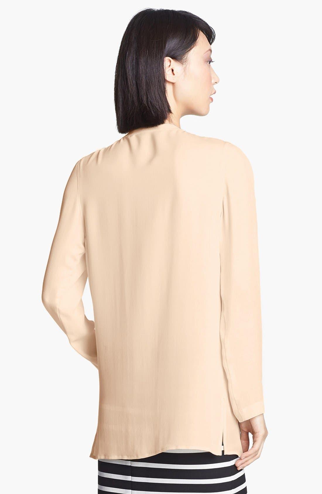 Alternate Image 2  - Halston Heritage Slit Front Silk Tunic