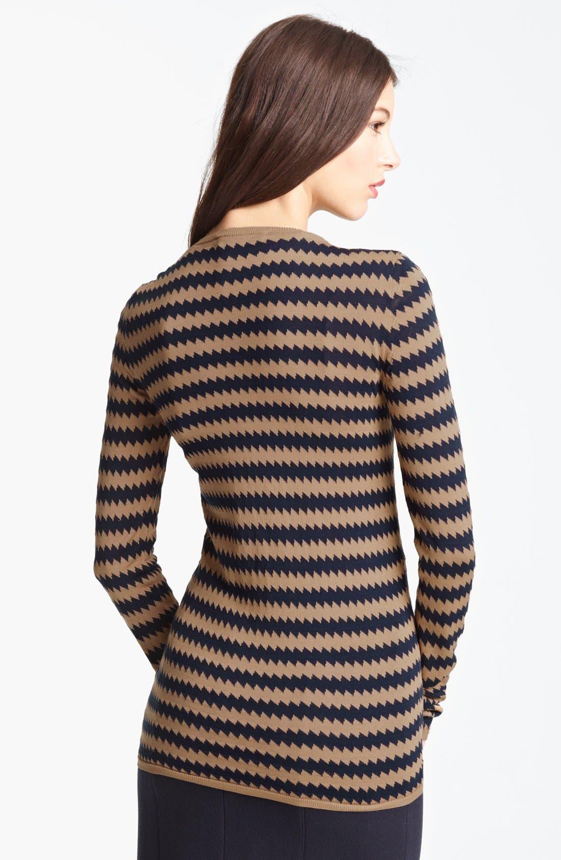 Alternate Image 3  - Burberry Prorsum Zigzag Silk Knit Sweater
