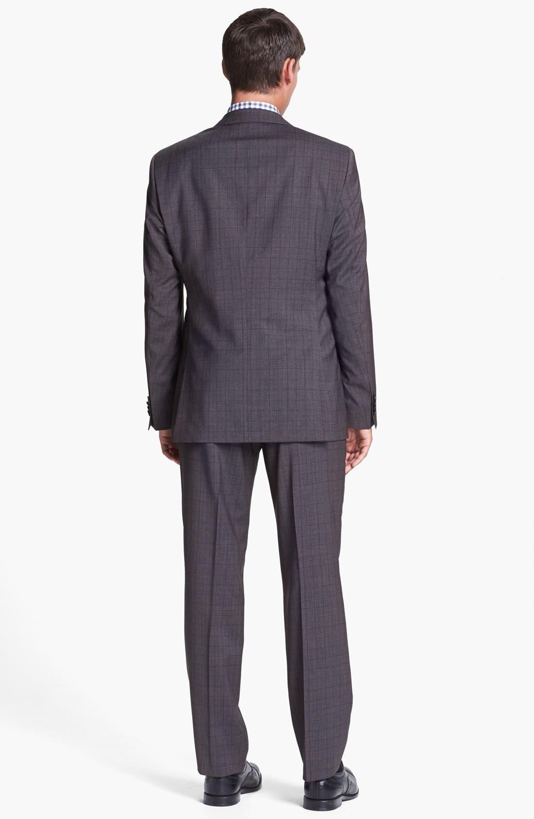 Alternate Image 2  - BOSS HUGO BOSS 'James/Sharp' Trim Fit Three Piece Plaid Suit