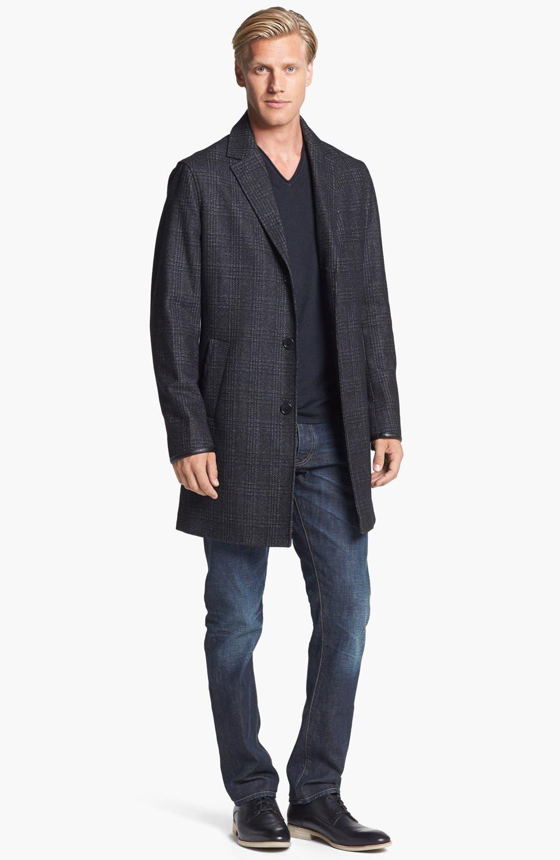 Alternate Image 4  - John Varvatos Star USA Wool Topcoat