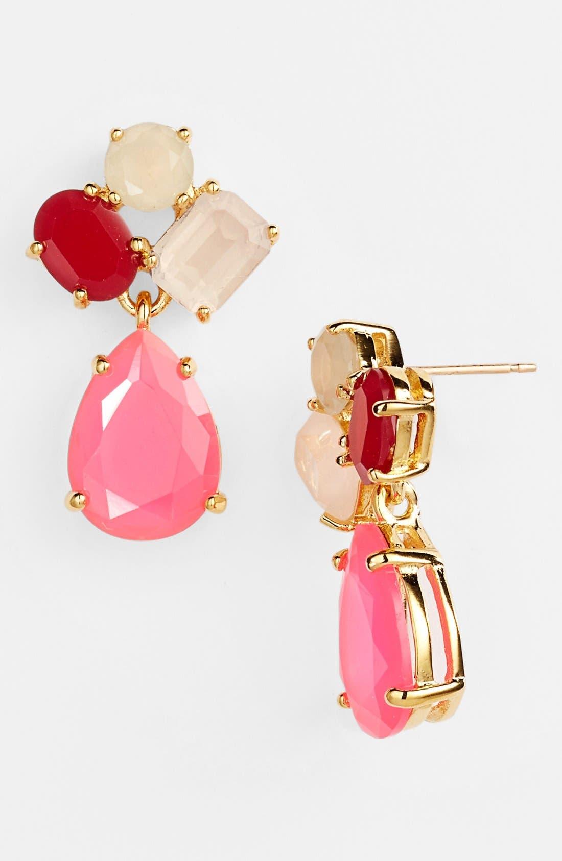 Alternate Image 1 Selected - kate spade new york cluster drop earrings