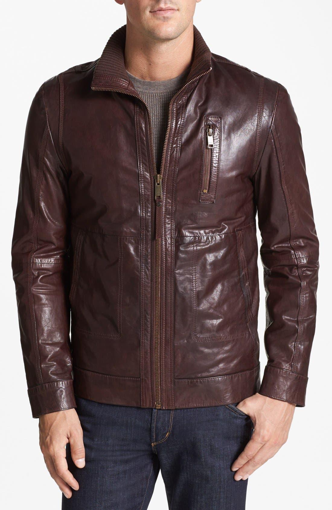 Alternate Image 1 Selected - Andrew Marc 'Vandam' Leather Jacket