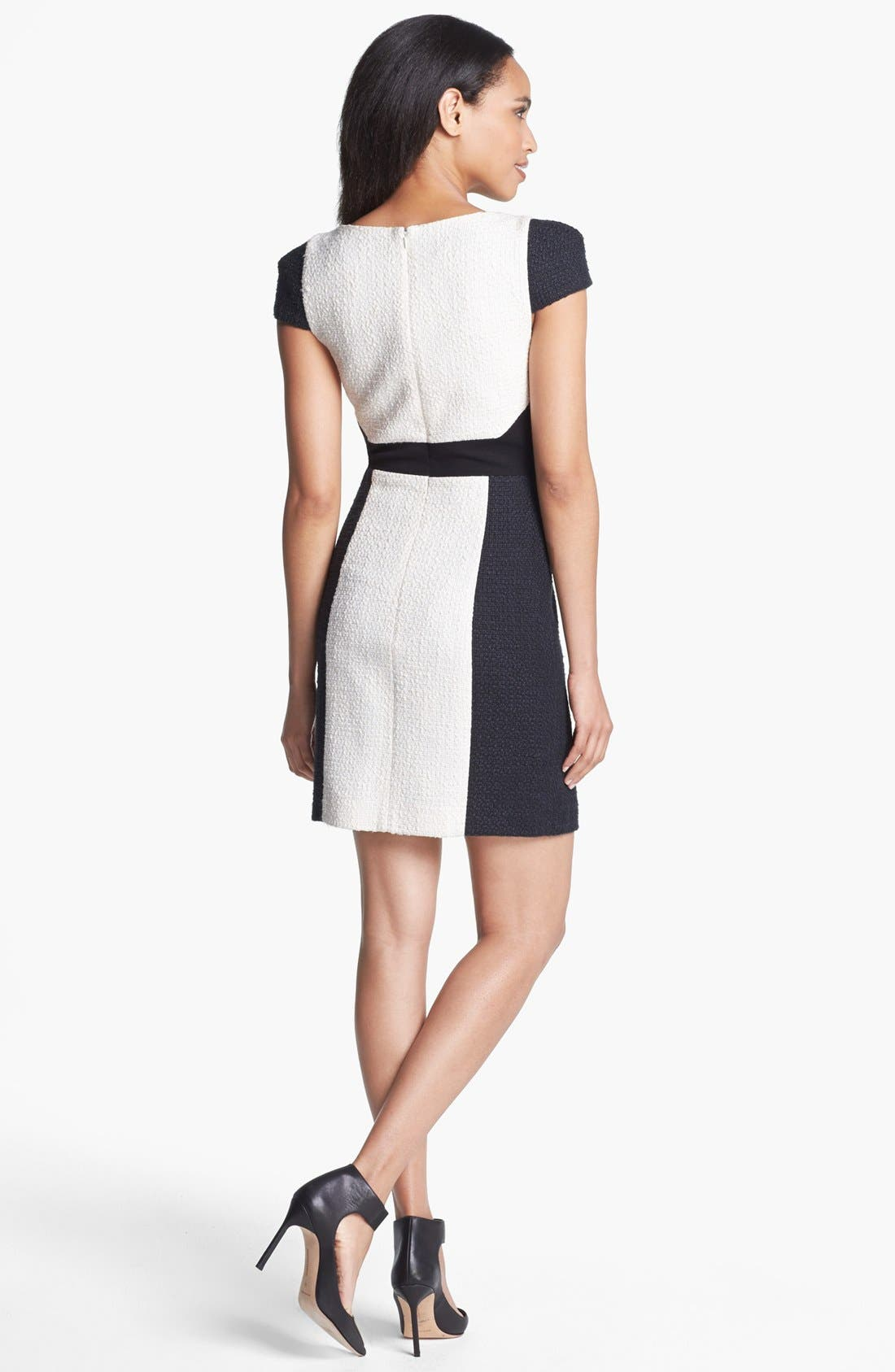Alternate Image 2  - 4.collective Colorblock Tweed Sheath Dress