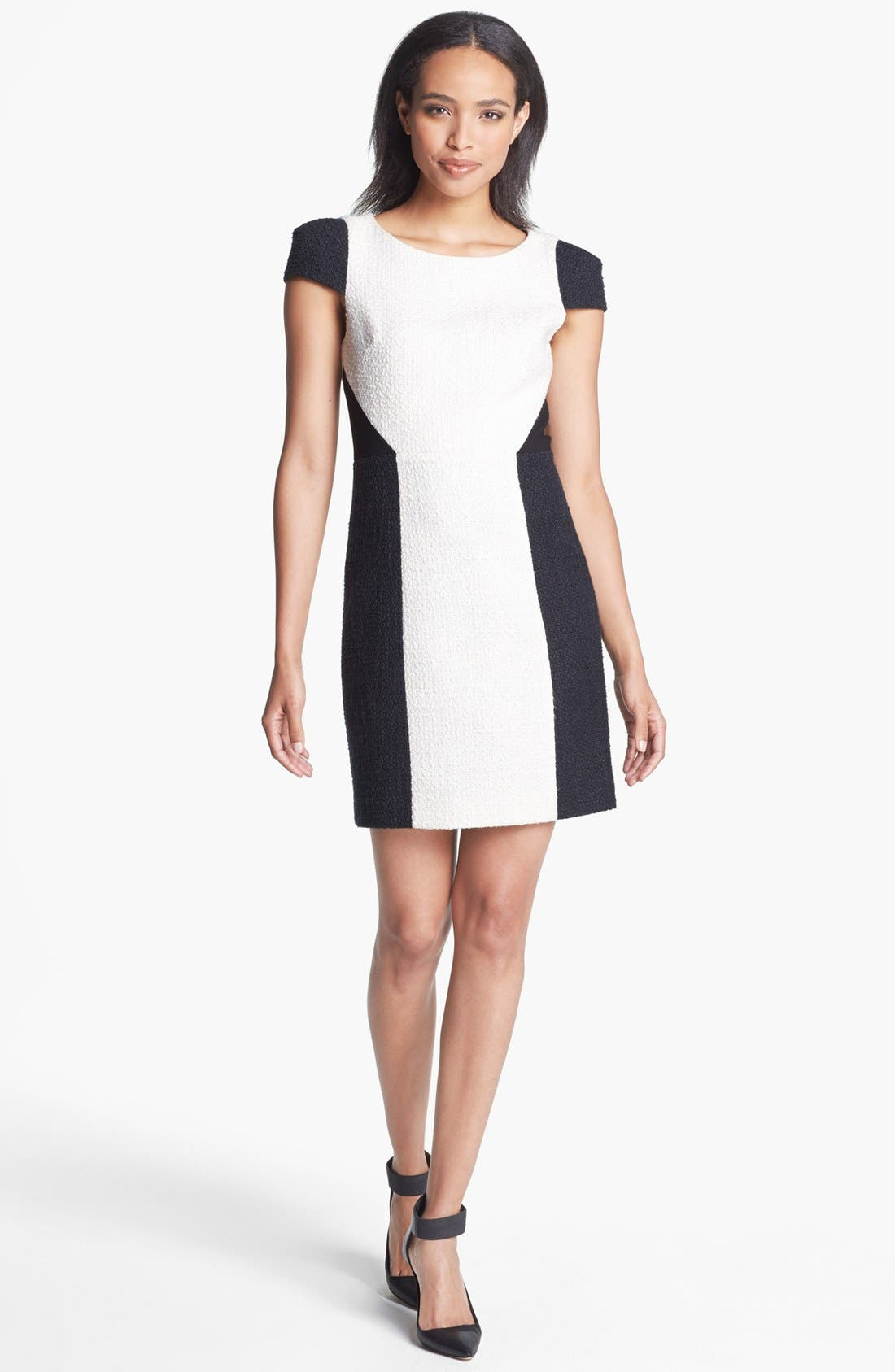 Main Image - 4.collective Colorblock Tweed Sheath Dress