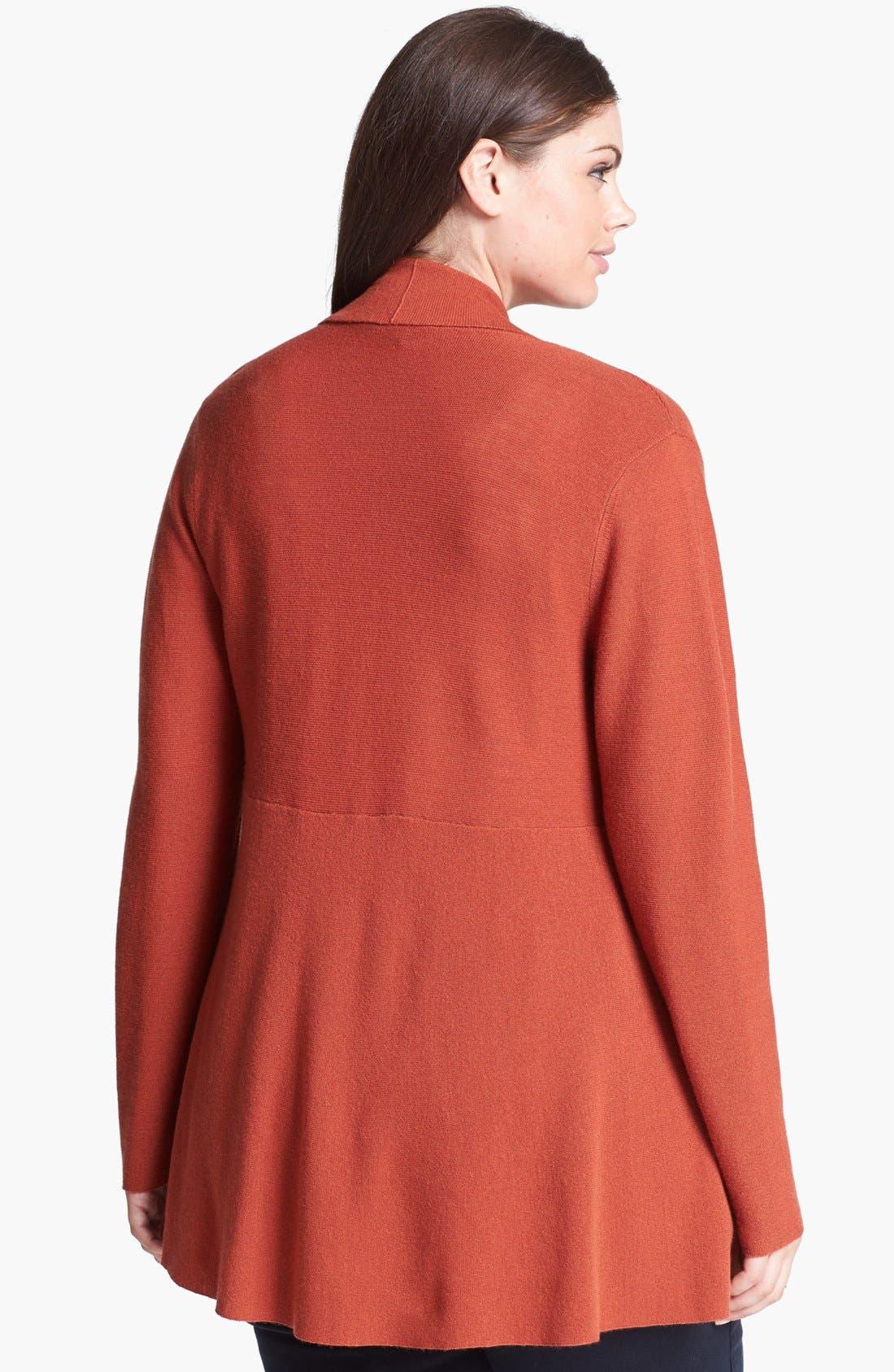 Alternate Image 2  - Eileen Fisher Shaped Merino Wool Cardigan (Plus Size)