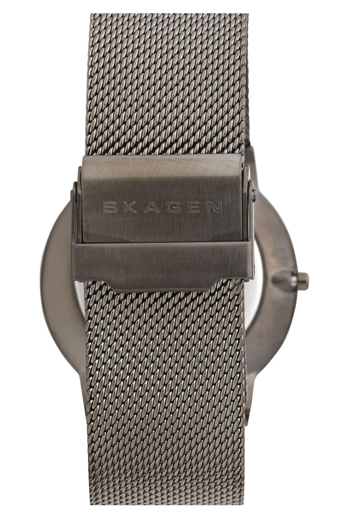 Alternate Image 2  - Skagen Slim Round Mesh Strap Watch, 39mm